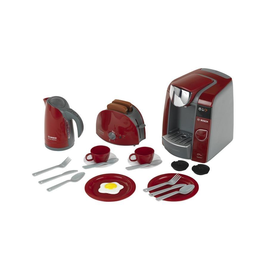 KLEIN BOSCH Frokostsæt med Tassimo Kaffemaskine, legekøkken sæt 9541 (legetøj)