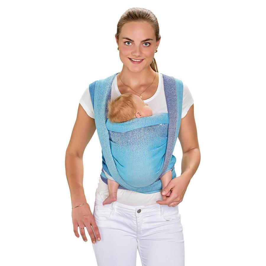 Hoppediz Maxi Fular portabebés Jacquard azul claro (5,40 m)