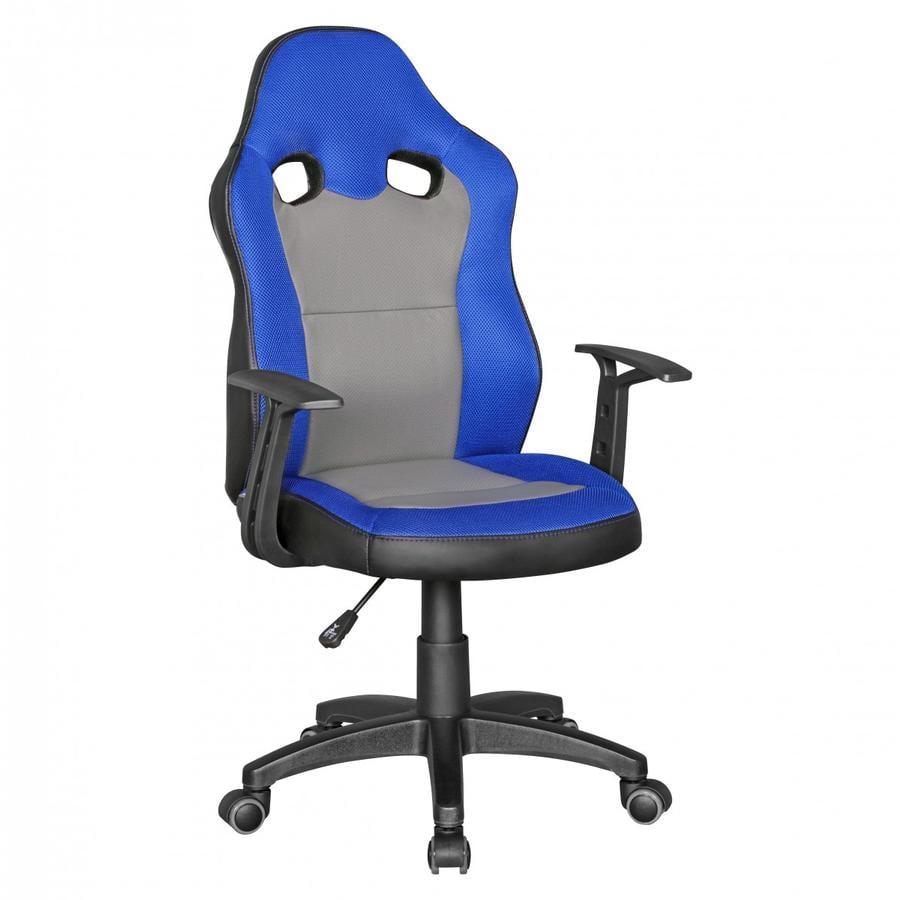 Am style ® Dětská stolní židle Speedy, modrá / šedá