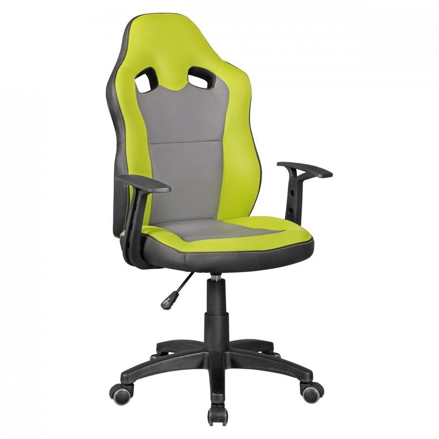 Amstyle  ® Krzesło obrotowe dla dzieci Speedy, zielone/szare