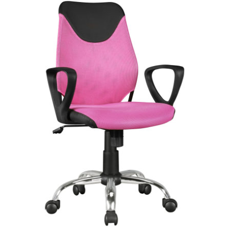 Am style ® KiKa skrivebordstol til børn, sort / lyserød