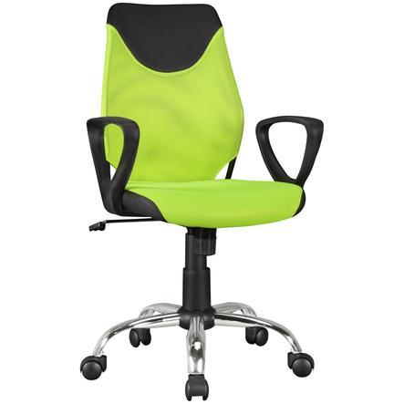 Amstyle  ® Krzesło obrotowe dla dzieci KiKa, czarne/lime