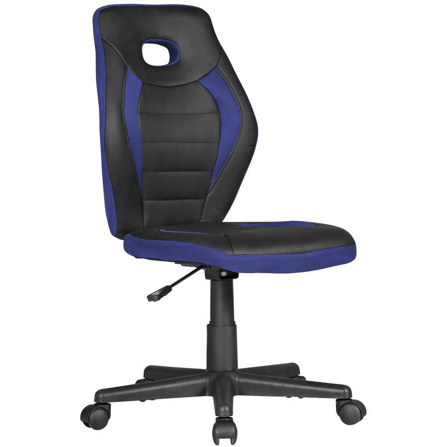 Amstyle  ® Krzesło obrotowe dla dzieci Luan, czarne/niebieskie