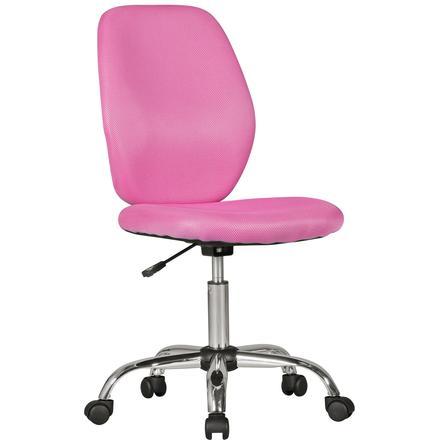 Amstyle® Chaise de bureau enfant Emma, rose