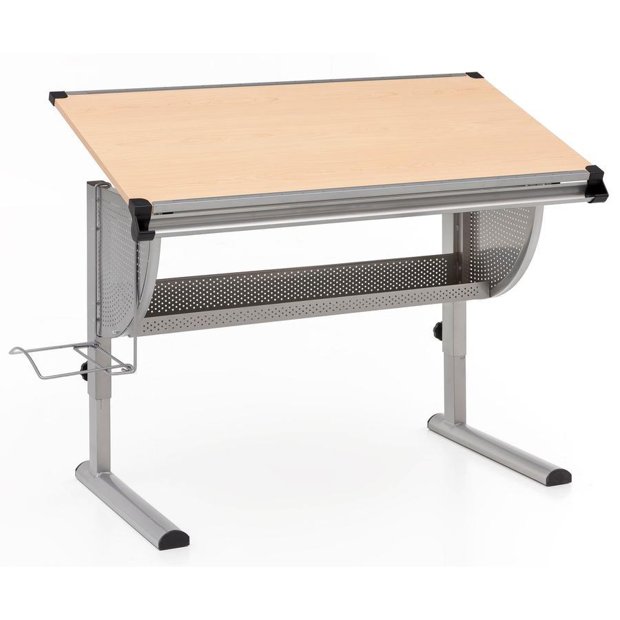 Wohnling® Bureau enfant Design Maxi bois 120x60 cm gris/hêtre