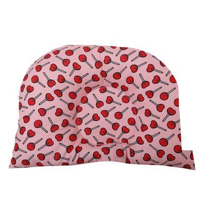 BabyDorm polštářek do kočárku BuggyDorm LolliPop červený s růžovými  lízátky
