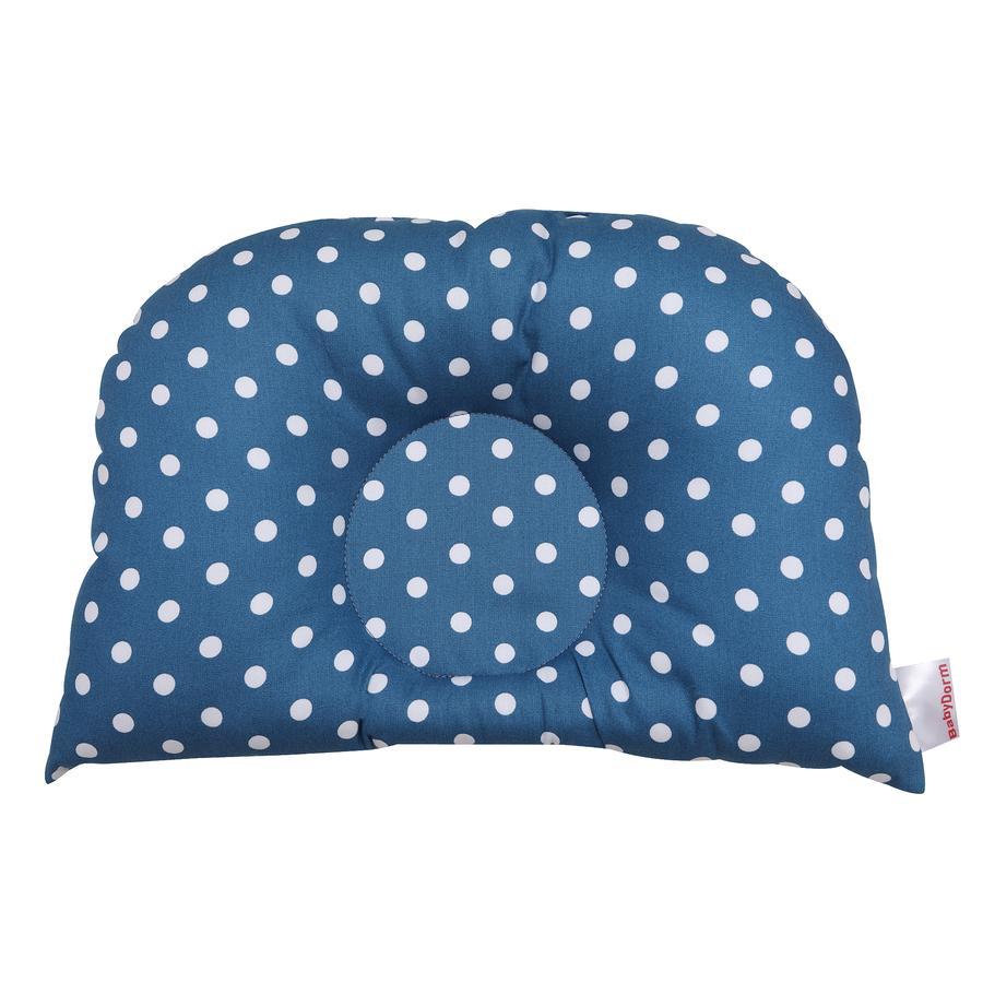 BabyDorm ® BuggyDorm Bonnie petrol cuscino passeggino Bonnie con puntini bianchi