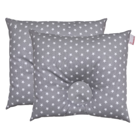 BabyDorm ® forebyggende pute EasyDorm Jonna grå med hvite stjerner