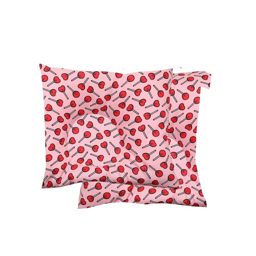 BabyDorm® Preventief kussen EasyDorm Lollipop rood met roze