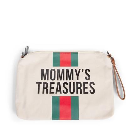 CHILDHOME Mommy Clutch Canvas vit/grön/röd