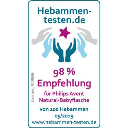 transparent Philips Avent  Naturnah-Flasche 2 x 260 ml 2er Pack