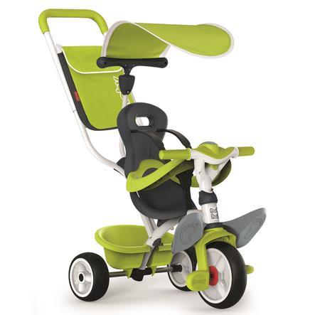 SMOBY Tříkolka Baby Balade 2 zelená stříška