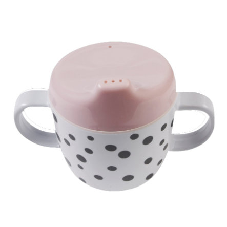 Done by Deer™ Taza de aprendizaje Happy dots rosa a partir del mes 6