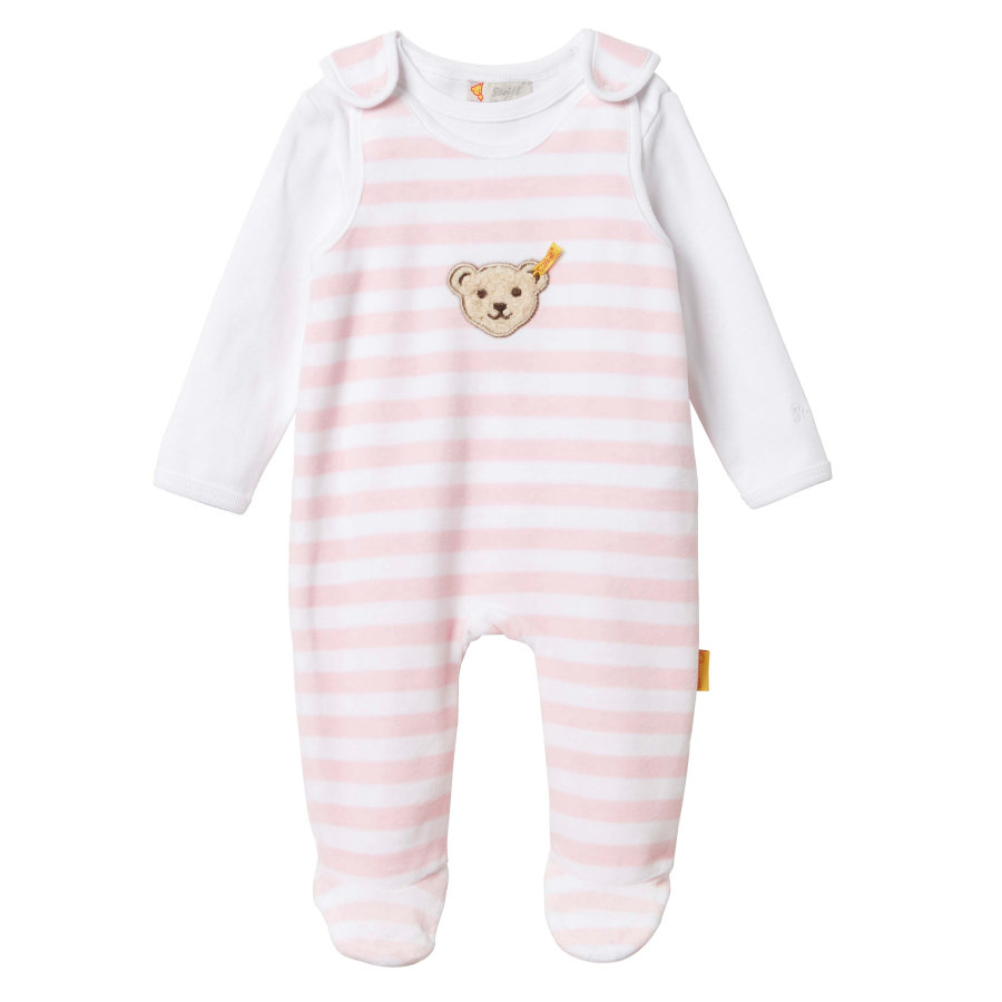 Steiff Girls Stramplerset 2-tlg. Nicky, barely pink