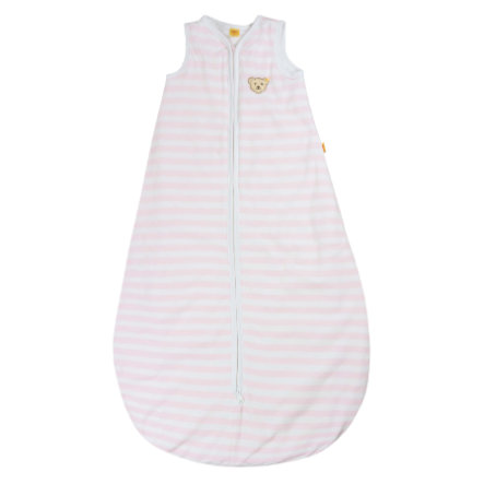 Steiff Girls Schlafsack, barely pink gestreift
