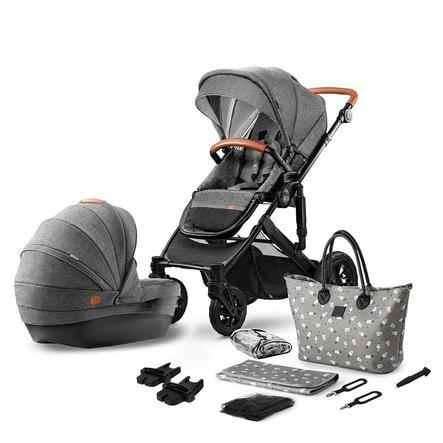 Kinderkraft Barnvagn Prime 2020 2 in 1 Grey