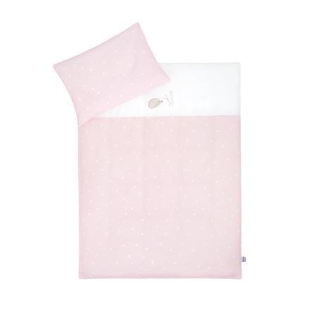 JULIUS ZÖLLNER Beddengoed met applicatie Egel / Sterren roze 100x135 cm