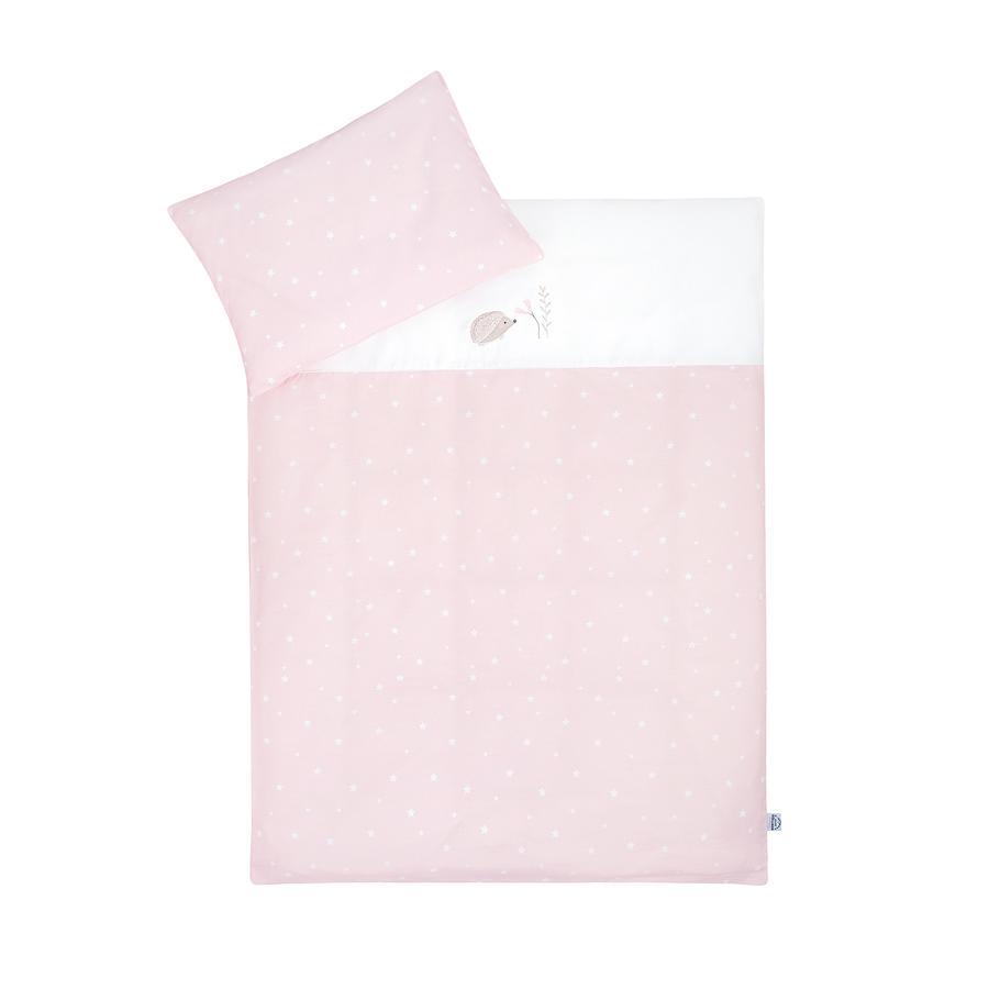 JULIUS ZÖLLNER sengetøj pindsvin / stjerne rose 100x135 cm