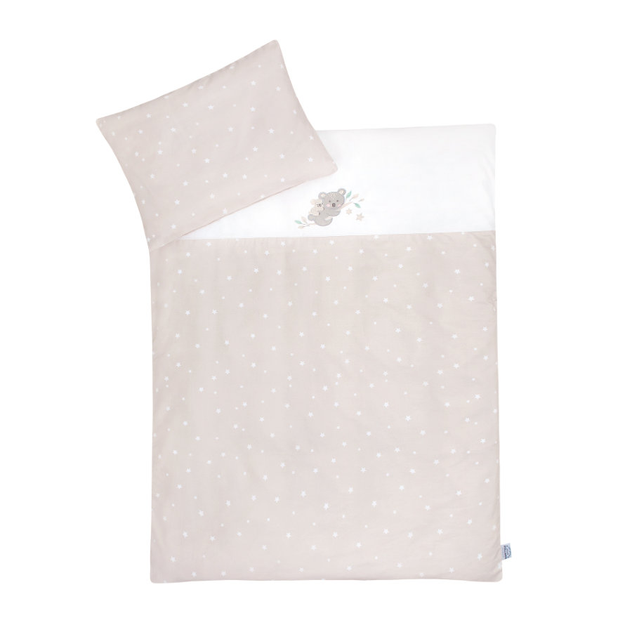 Ropa de cama JULIUS ZÖLLNER con aplicación Koala/ Star beige 100x135 cm