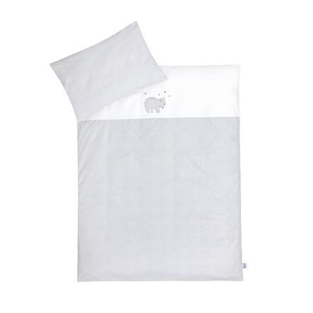 JULIUS ZÖLLNER Set biancheria da letto con applicazioni orsetto/ pois grigio 100x135 cm