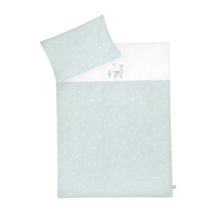 JULIUS ZÖLLNER sängkläder med applicering av Lama / Star mint 100x135 cm