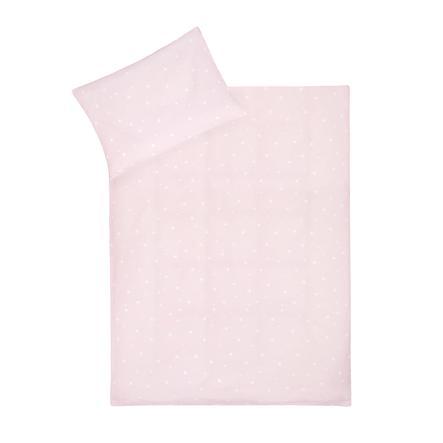JULIUS ZÖLLNER Beddengoed Egel / Sterren roze 100x135 cm