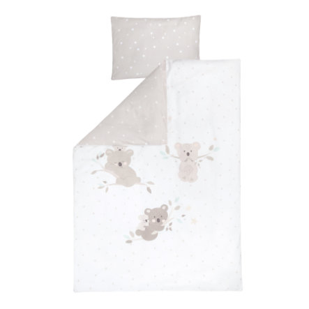 JULIUS ZÖLLNER sengetøj Koalas / Star beige 100x135 cm