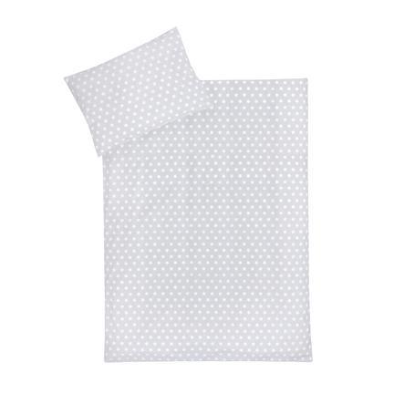 JULIUS ZÖLLNER sengetøy pingvin / stjerner grå 100x135 cm