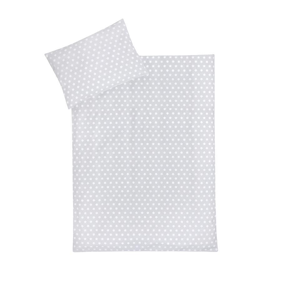 JULIUS ZÖLLNER sängkläder pingvin / stars grå 100x135 cm