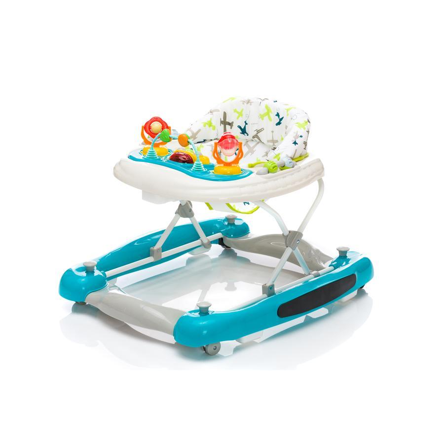 fillikid Vauvakävelijä swing-toiminnolla turkoosi lentokoneilla