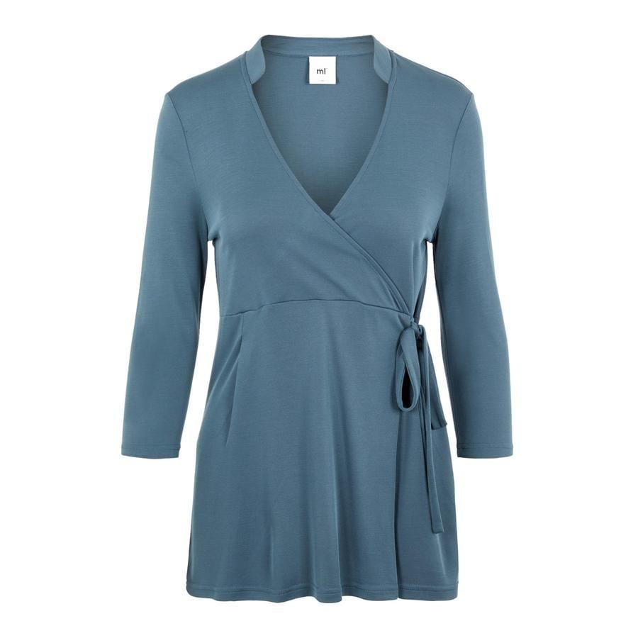 mama;licious MLMIE Orion Camisa de enfermera azul