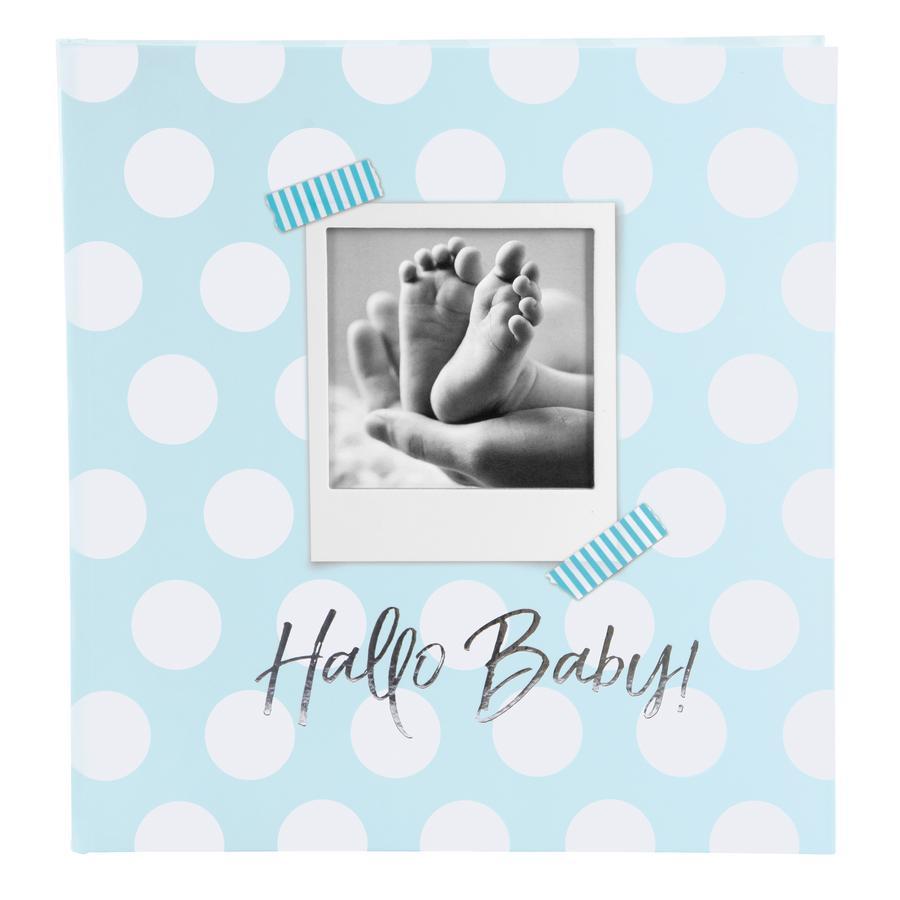 goldbuch Babyalbum - Hallo Baby blau mit Textvorspann