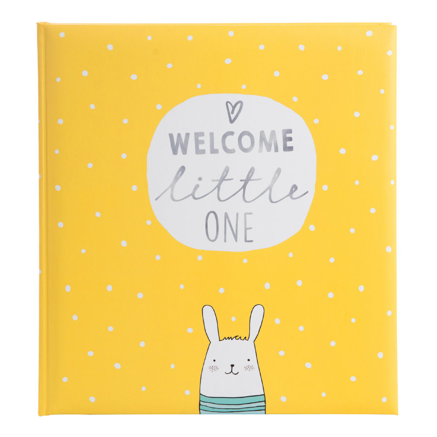goldbuch Babyalbum - lille gule med tekst introduksjon