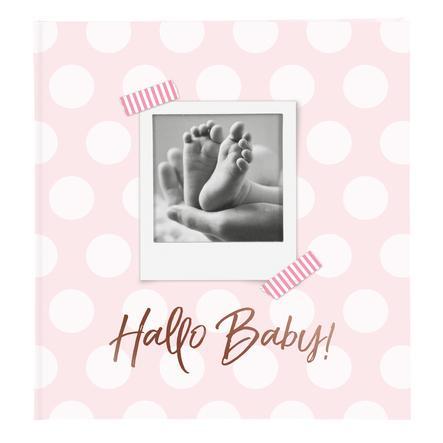 goldbuch Babyalbum - Hello Baby bleu avec introduction du texte