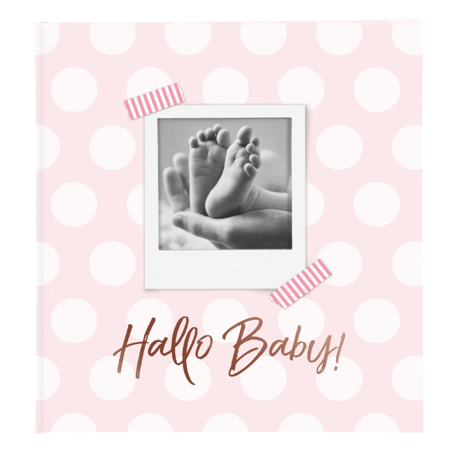 goldbuch Babyalbum - Hej Babyblå med tekst introduktion