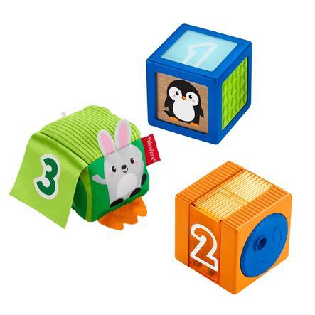 Fisher- Price ® Babies barevné zvířecí stavební kameny