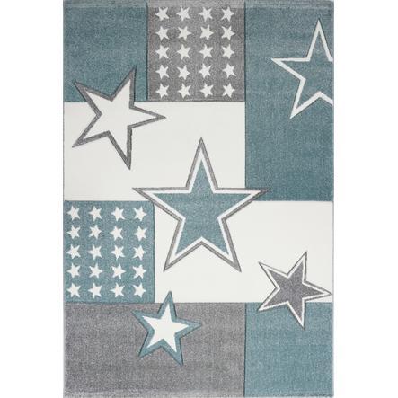 Juego LIVONE y alfombra infantil Kids Love Rugs Starfield, aqua/silver grey, 120 x 170 cm