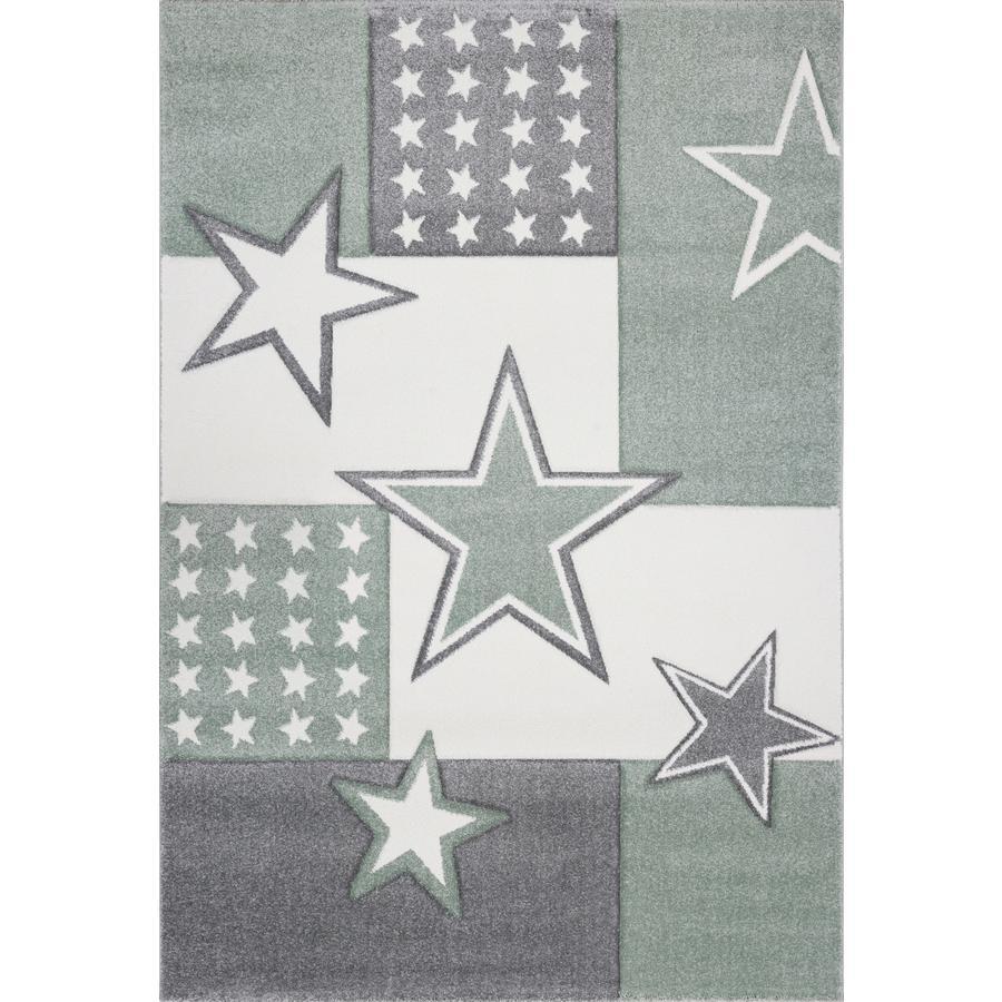 LIVONE play a dětský koberec Kids Love Rugs Starfield, grey-green / silver-grey, 120 x 170 cm