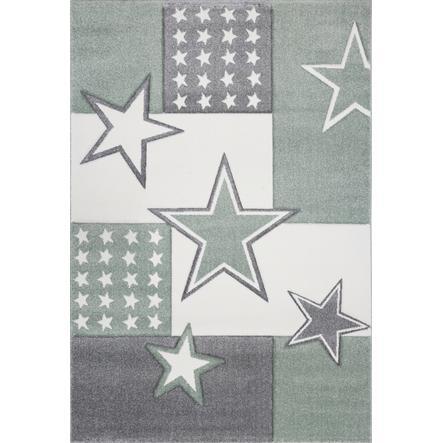 LIVONE Tapis enfant Kids Love Rugs Starfield vert gris/gris argenté 160x220 cm