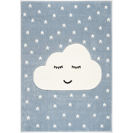 LIVONE Tapis enfant Kids Love Rugs Smiley Cloud bleu/blanc 120x170 cm