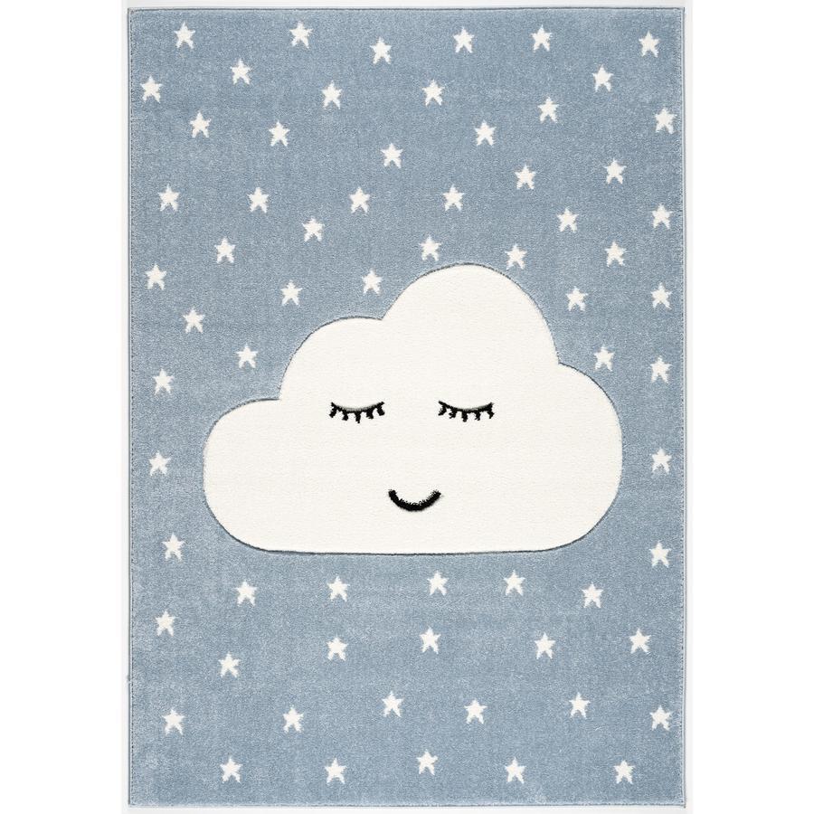 LIVONE Spiel- und Kinderteppich Kids Love Rugs Smiley Cloud, blau/weiss, 120 x 170 cm