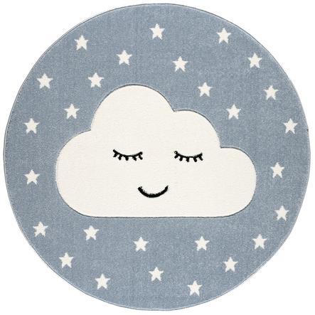 LIVONE play a dětský koberec Kids Love Rugs Smile y Cloud, blue / white, 160 cm