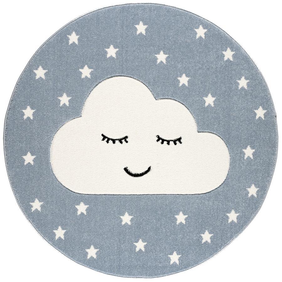 LIVONE lek og barneteppe Kids Love Rugs Smile y Cloud, blå / hvit, 160 cm