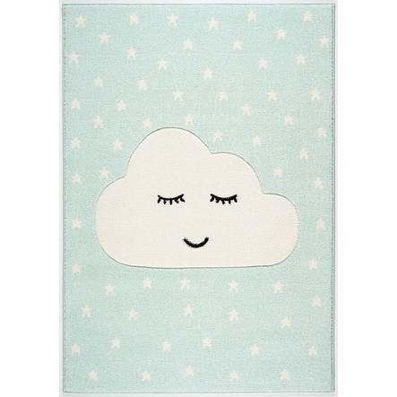 LIVONE Tapijt Kids Love Rugs Smiley Cloud mint/wit 120 x 170 cm