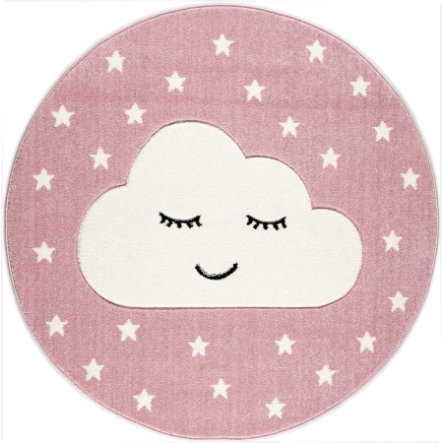 LIVONE Tapis enfant Kids Love Rugs Smiley Cloud rose/blanc 160 cm