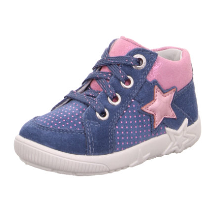 superfit  Girls lage schoen light Sterrenblauw/roze (medium)