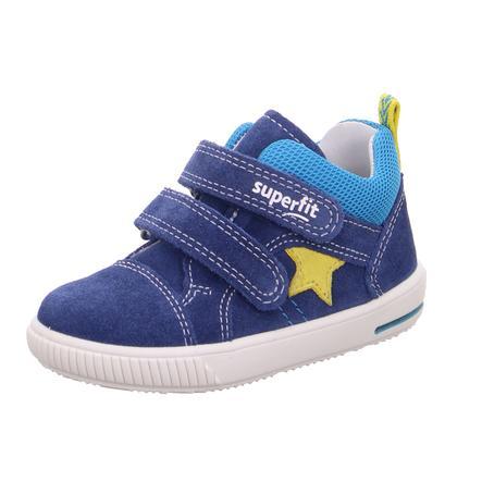 superfit Chaussures basses enfant scratch Moppy bleu/jaune, largeur moyenne