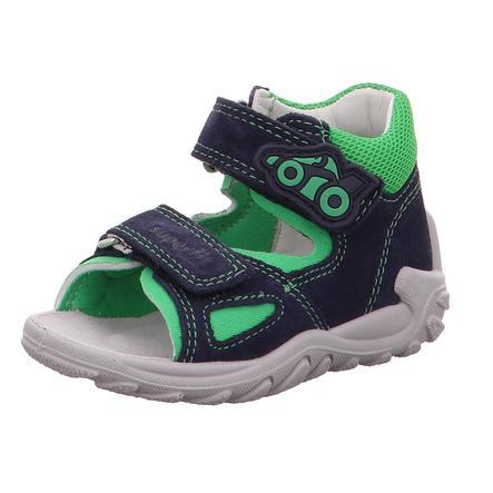 superfit Drenge Sandal Flow blå / grøn (medium)
