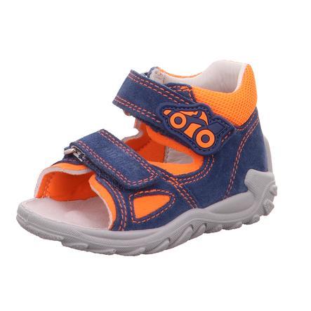 superfit Boys Sandale Flow blau/orange (mittel)