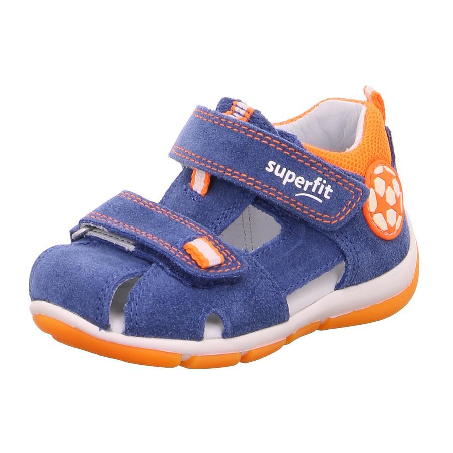 superfit Sandales enfant Freddy bleu/orange, largeur moyenne